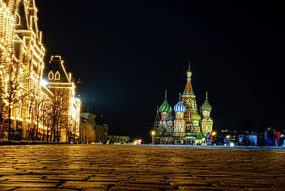 Photograph - St. Basil Cathedral by Alexey Stiop
