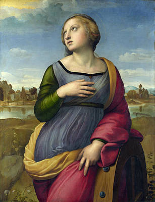 Saint Catherine Painting - St. Catherine Of Alexandria by Raffaello Sanzio