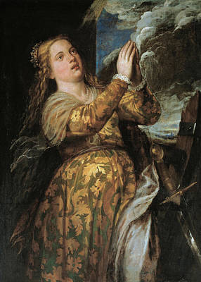 History Painting - St. Catherine Of Alexandria by Titian