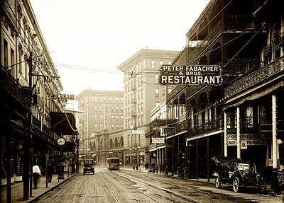 Photograph - St Charles Street New Orleans C1910 by Mountain Dreams