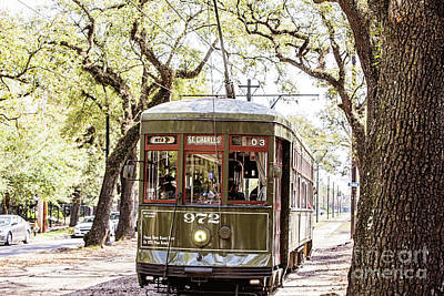 Photograph - St. Charles Streetcar by Scott Pellegrin