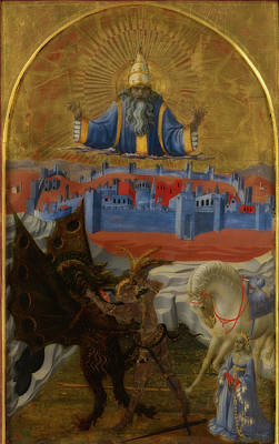 Dragon Painting - St. George Slaying The Dragon by Paolo Uccello