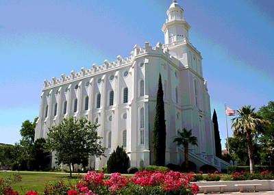 St George Utah Temple Art Print