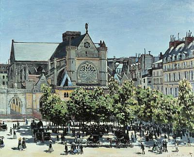 Streetscape Painting - St. Germain L'auxerrois by Claude Monet