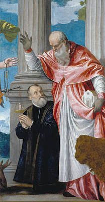 St Jerome And A Donor Print by Paolo Veronese