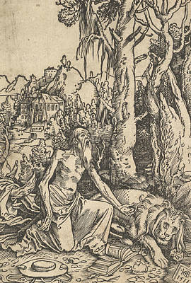 Relief - St. Jerome In The Desert by Hans Baldung Grien