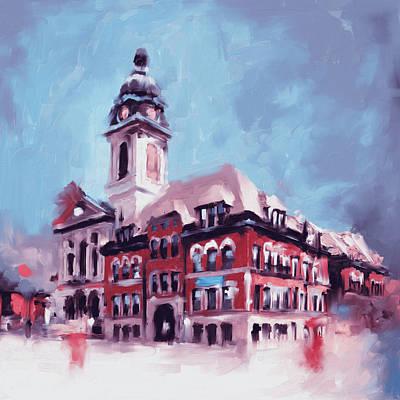 Historic Building Painting - St. John Cantius by Mawra Tahreem