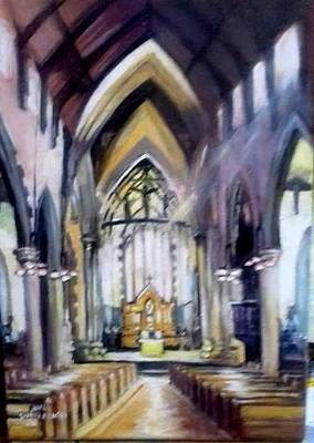 Painting - St Johns Cathedral Limerick Ireland by Paul Weerasekera