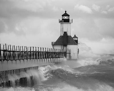 St. Joseph North Pier Lighthouse Art Print