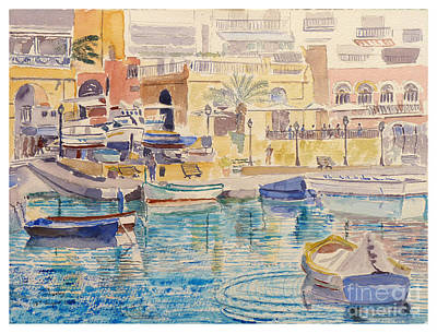 Painting - St Julians Malta by Godwin Cassar