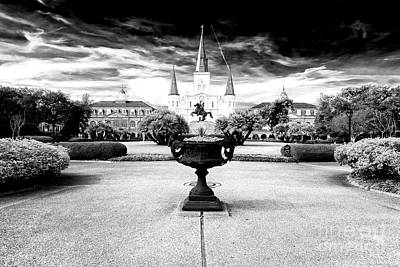 Of Artist Photograph - St. Louis Cathedral Drama by John Rizzuto
