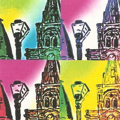 St. Louis Cathedral Pop  Art Print by John Giardina
