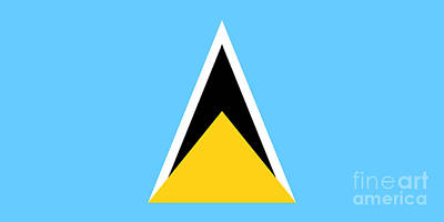 Government Photograph - St. Lucia Flag by Frederick Holiday