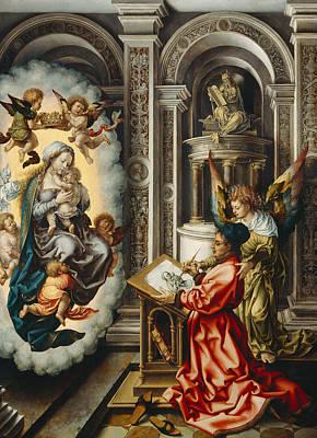 Painting - St. Luke Painting The Madonna by Jan Gossaert