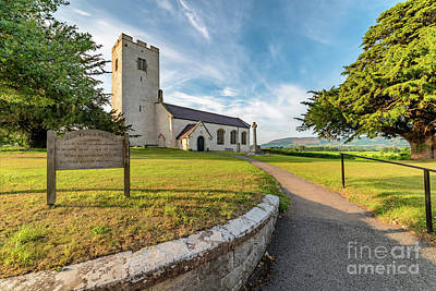 Medieval Entrance Photograph - St Marcellas Church by Adrian Evans