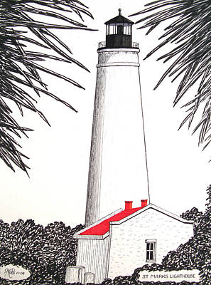 Drawing - St Marks Lighthouse by Frederic Kohli