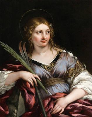 Cortona Painting - St. Martina by Pietro da Cortona