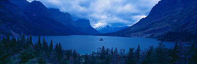 Clarks Hill Lake Photograph - St. Mary Lake, Glacier National Park by Panoramic Images