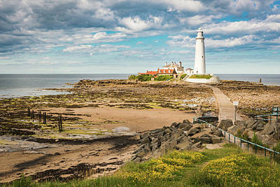 Photograph - St Mary's Lighthouse by Gary Eason
