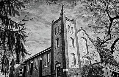 Photograph - St Marys Of Vining Bnw by Bonfire Photography