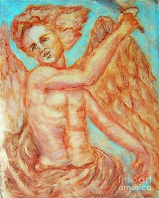 St. Michael The Archangel Art Print by Suzanne Reynolds