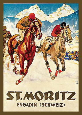 Painting - St. Moritz by Hugo Laubi
