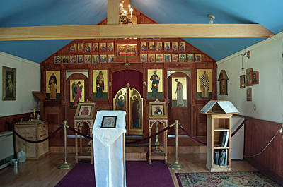 Russian Icon Photograph - St Nicholas Russian Orthodox Church by Cathy Mahnke
