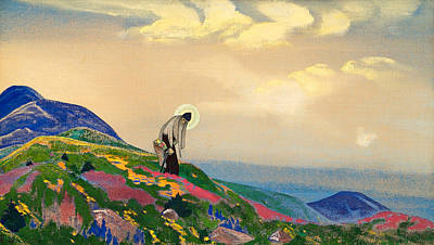 Saint Nicholas Painting - St. Panteleimon The Healer by Nicholas Roerich