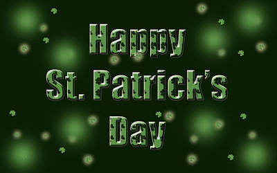 Design Wall Art - Digital Art - St. Patrick's Day by Maye Loeser