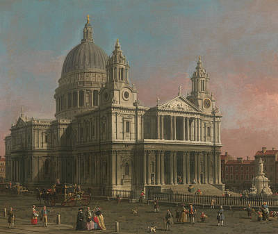 Italian Landscapes Painting - St. Paul's Cathedral by Canaletto