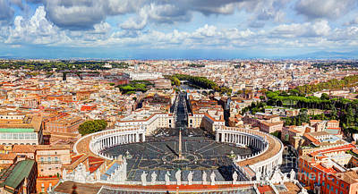 Photograph - St. Peter's Square Piazza San Pietro In Vatican City by Michal Bednarek