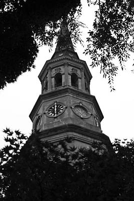 Steeple Photograph - St. Philips Church Steeple by Dustin K Ryan