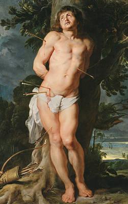 Flemish Painting - St. Sebastian  by Peter Paul Rubens