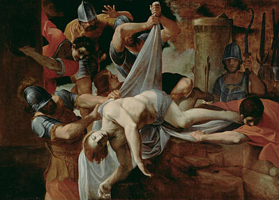 Painting - St. Sebastian Thrown Into The Cloaca Maxima by Ludovico Carracci