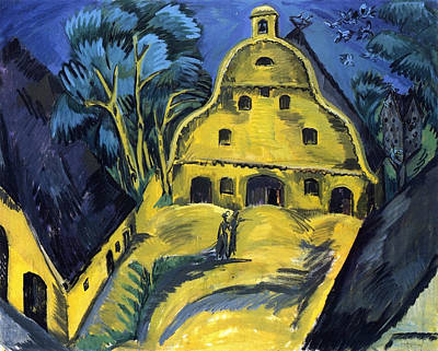 German Painting - Staberhof Farm On Fehmarn I by Ernst Ludwig Kirchner