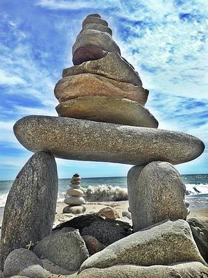 Photograph - Stacking Stones by Lorella Schoales