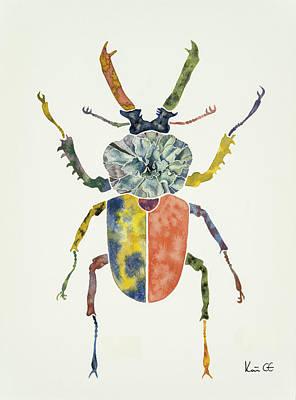 Stag Beetle Original by Kate Gilbert