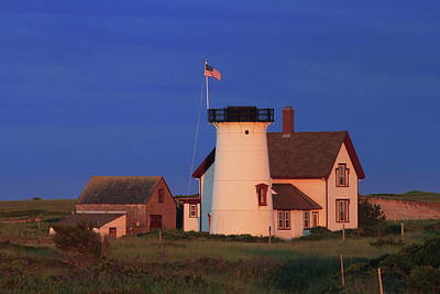 Photograph - Stage Harbor Lighthouse Cape Cod by John Burk