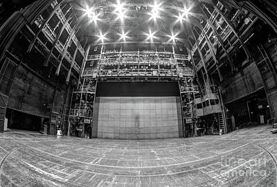 Stage In The Abandoned Theatre Art Print