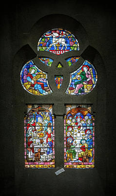 Photograph - Stained Glass At The Manizales Cathedral In Colombia by Adam Rainoff