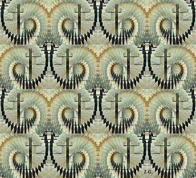 Digital Art - Staircase by Iris Gelbart