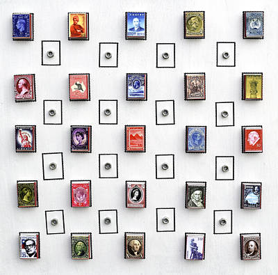 Mixed Media - Stamps On A Matchbox by Sumit Mehndiratta