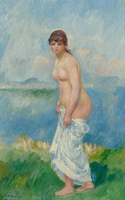 Bathing Painting - Standing Bather by Pierre Auguste Renoir