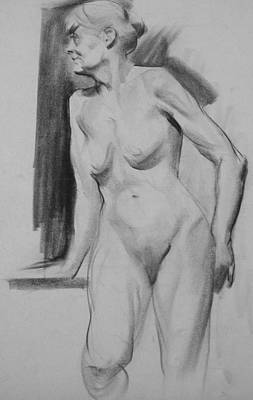 Drawing - Jaece In Standing Pose by Robert Holden