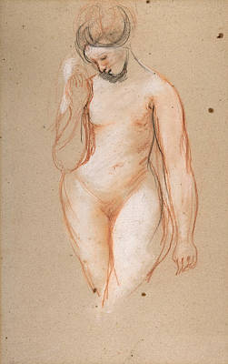Drawing - Standing Female Nude by William Etty