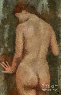 Love Painting - Standing Nude by Dragica Micki Fortuna