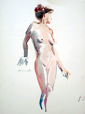Painting - Standing Nude by Mark Lunde