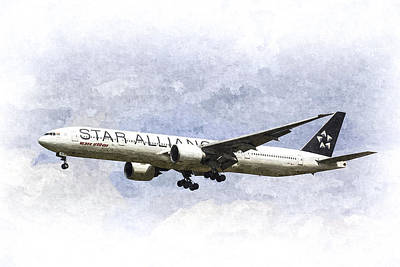 Star Alliance Boeing 777 Art Print