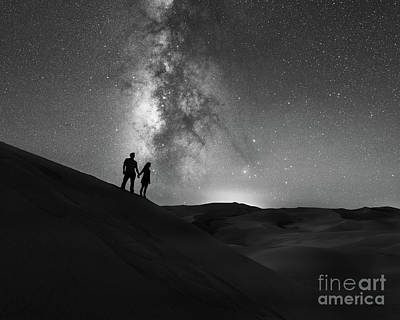 Star Crossed Lovers At Night Art Print by Michael Ver Sprill
