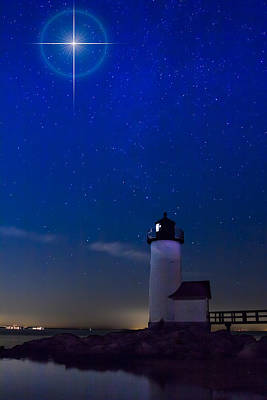 Photograph - Star Over Annisquam Lighthouse by Jeff Folger